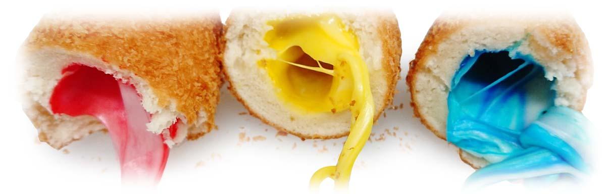 パステルカラーチーズドッグ(チーズハットグ)