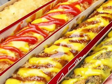 ケチャップ・マスタードいっぱいのチーズスティック